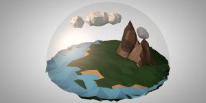 Tiny World in a snow globe